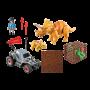 Cercetator - automobil si triceratops, Playmobil, 4 ani+