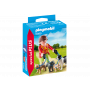 Femeia cu catelusi la plimbare, Playmobil, 4 ani+