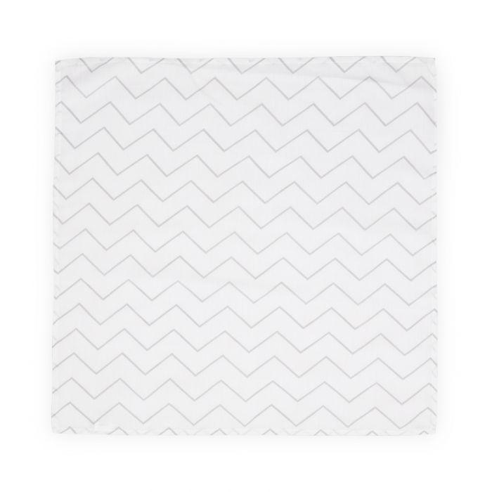 Scutec pled muselina Lorelli Grey Lines, 80x80 cm, Alb