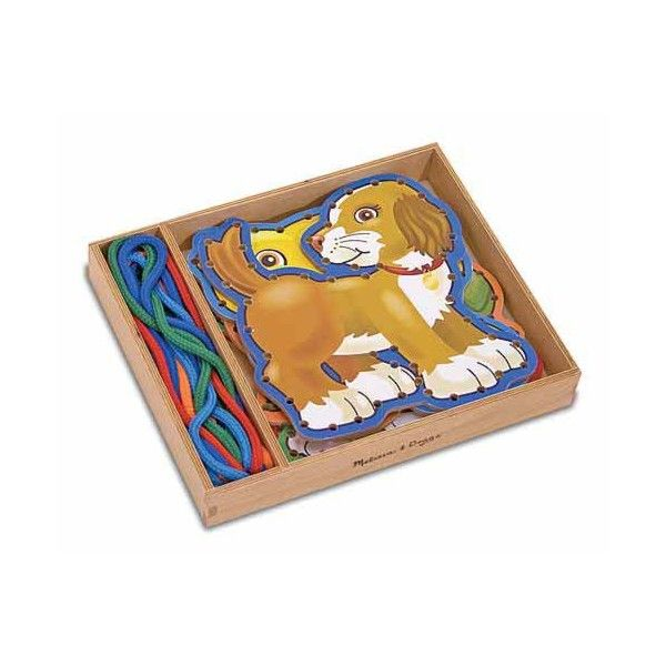 Joc sireturi Animale de companie Melissa & Doug, 3 ani+