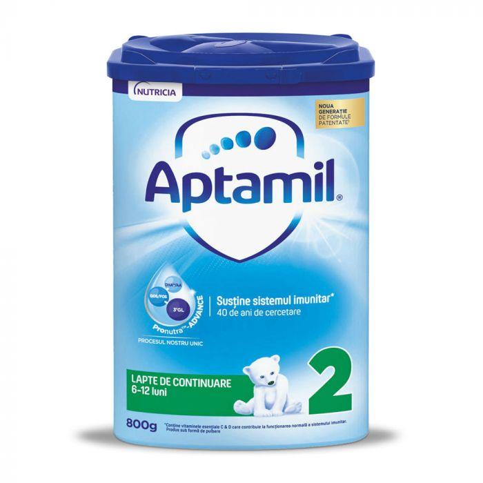 Lapte praf Nutricia Aptamil 2, 800 g, 6 - 12 luni