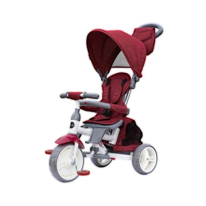 Tricicleta Evo Coccolle, cu sezut reversibil, Visiniu