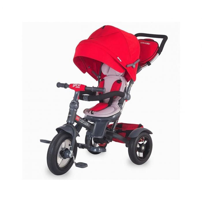 Tricicleta multifunctionala Giro Plus Coccolle, Rosu