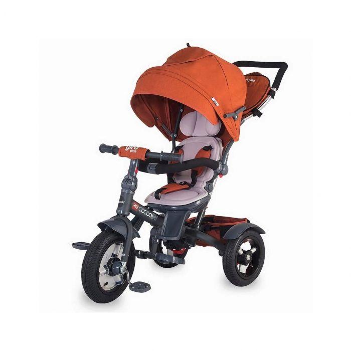 Tricicleta multifunctionala Giro Plus Coccolle, Caramiziu