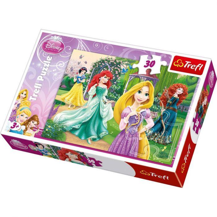 Puzzle Rapunzel, Merida, Ariel, Alba ca Zapada 30 piese Trefl