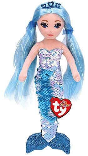 Plus Sirena Albastra Ty, cu paiete, 27 cm, 12 luni+