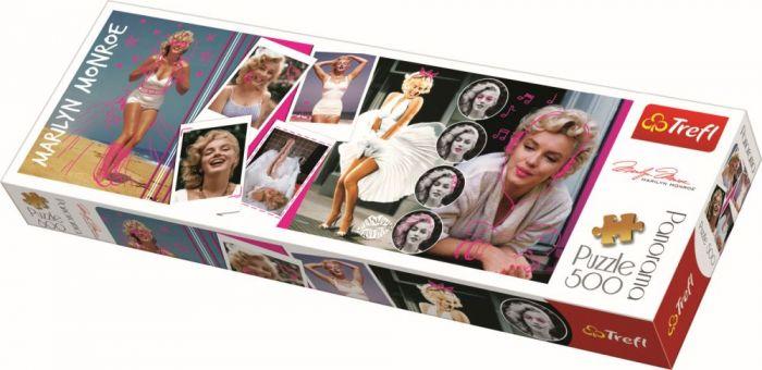 Puzzle panorama colaj Marilyn Monroe Trefl, 500 piese, 15 ani+