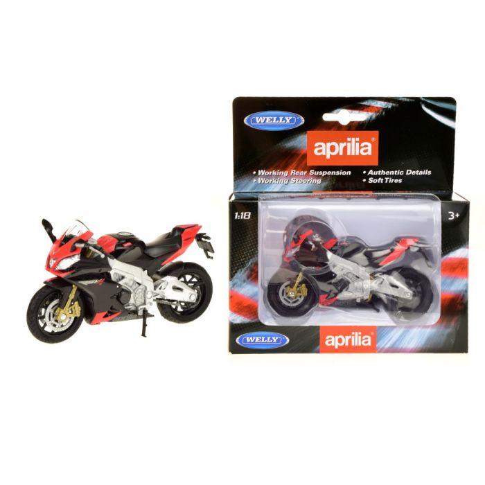 Motocicleta Aprilia Rsv 4 Welly, 1:18, 3 ani+