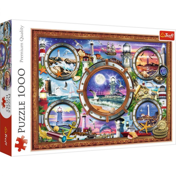 Puzzle Trefl 1000 Faruri Pline de culoare, 12 ani+