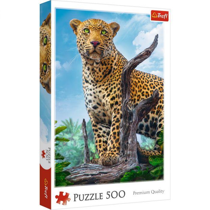 Puzzle Trefl 500 Leopard in Savana, 10 ani+