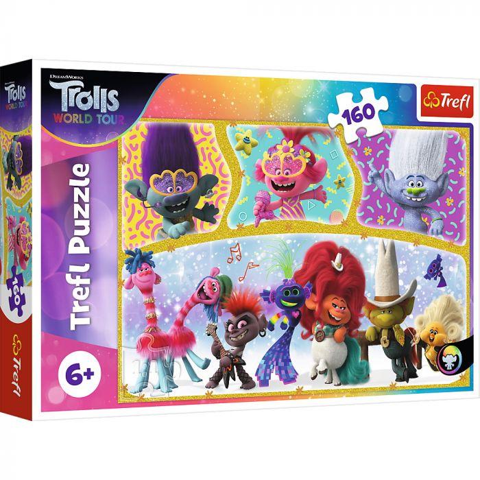 Puzzle Trefl 160 Lumea Fericita a Trolilor, 6 ani+