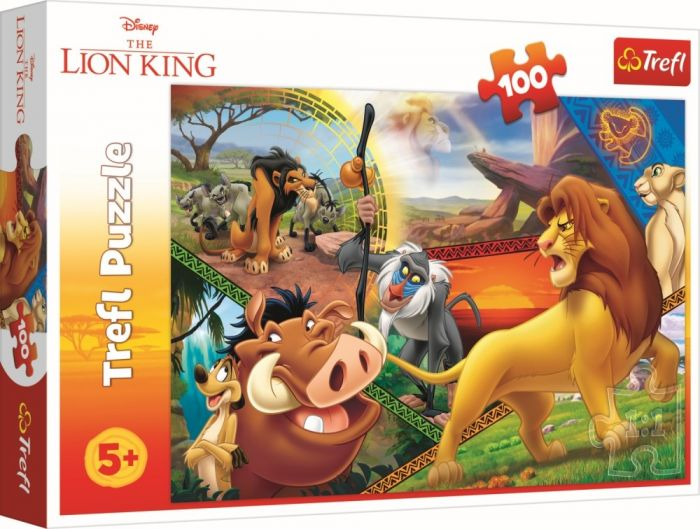 Puzzle Aventurile Leusorului Simba Trefl, 100 piese, 5 ani+