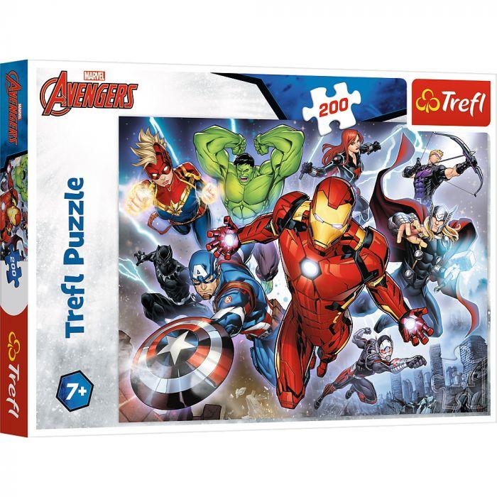 Puzzle Trefl 200 avengers Rabunatorii, 7 ani+