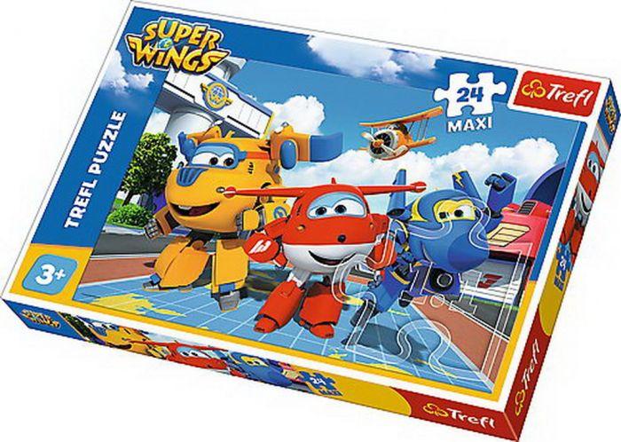 Puzzle Trefl 24 Maxi avioane Fericite, 3 ani+