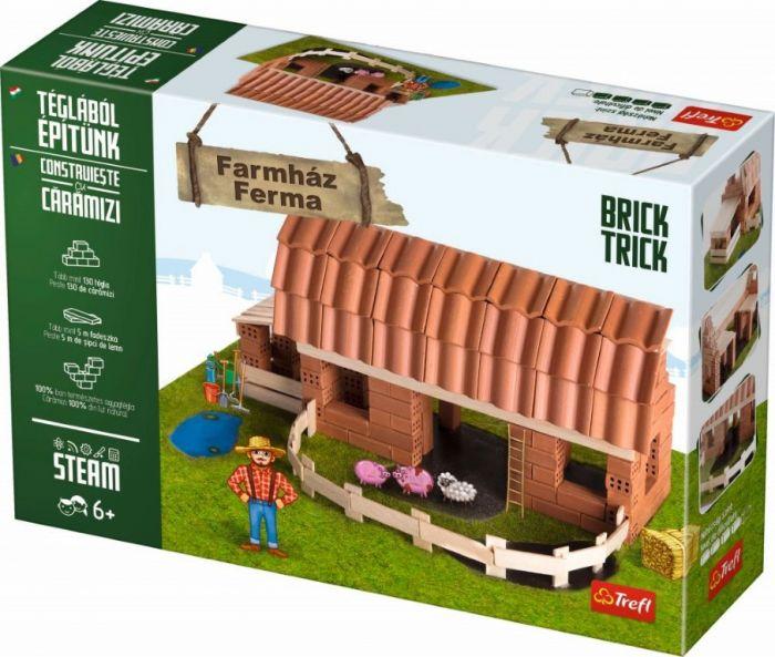 Ferma Mare Brick Trick Trefl, din caramidute ceramice, 6 ani+