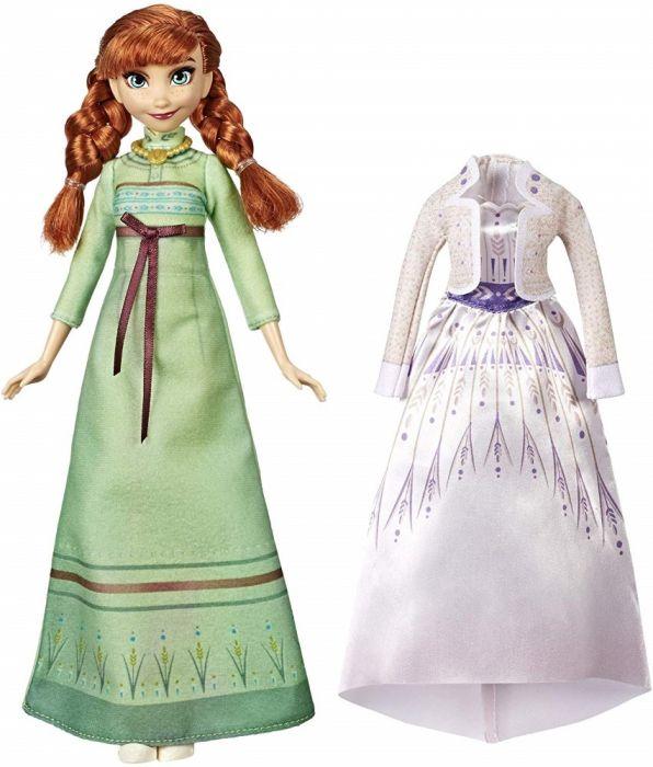 Papusa Anna Frozen II Disney Frozen, cu rochita de schimb, 3 ani+