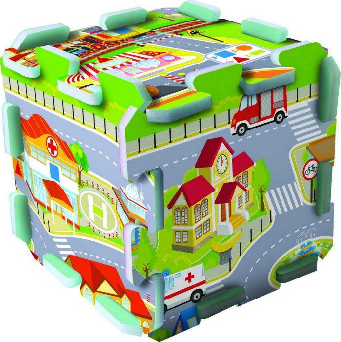 Puzzle Trefl Distractie in Oras, din spuma, 24 luni+