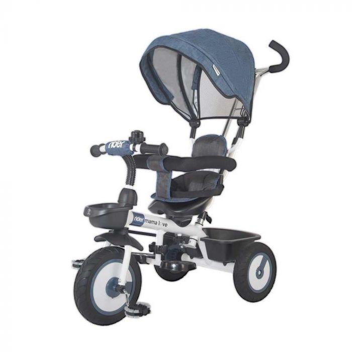 Tricicleta multifunctionala Rider MamaLove, Albastru