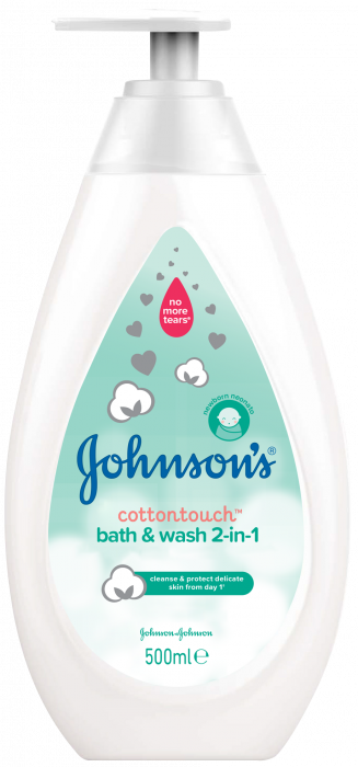 Lotiune de spalare 2 in 1 Johnson's Baby Cotton Touch, 500 ml