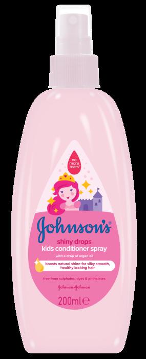 Balsam spray Johnson's Baby, pentru par stralucitor, 200 ml