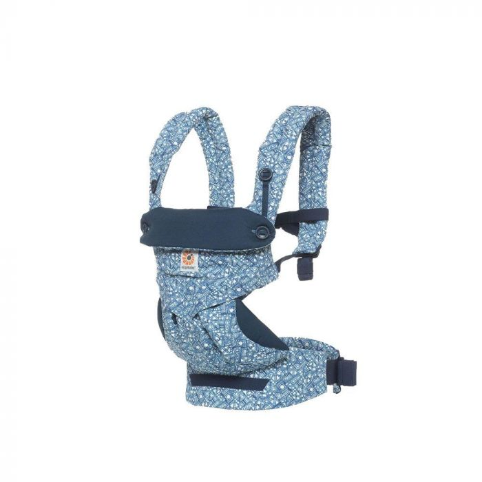 Marsupiu 360 Ergobaby, 5.5-20 kg, Batik Indigo ONE TIME PURCHASE only