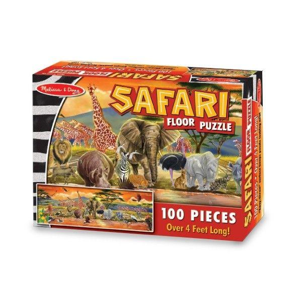 Puzzle de podea Safari Melissa & Doug, 100 piese, 6 ani+