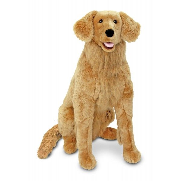 Golden Retriever Gigant plus Melissa & Doug, 97 cm, 3 ani+