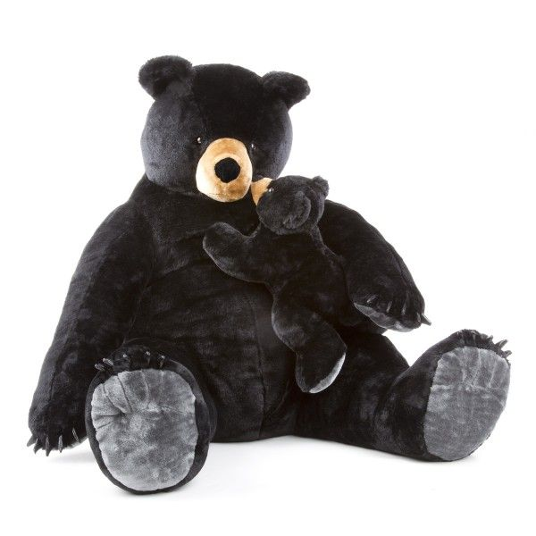Urs negru Gigant plus Melissa & Doug, 59 cm, 3 ani+