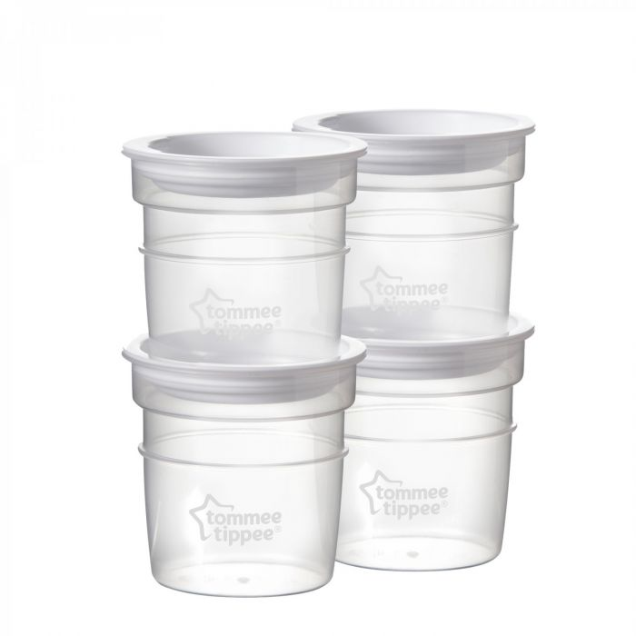 Recipiente stocare lapte matern Closer to Nature Tommee Tippee, 4 buc, 60 ml