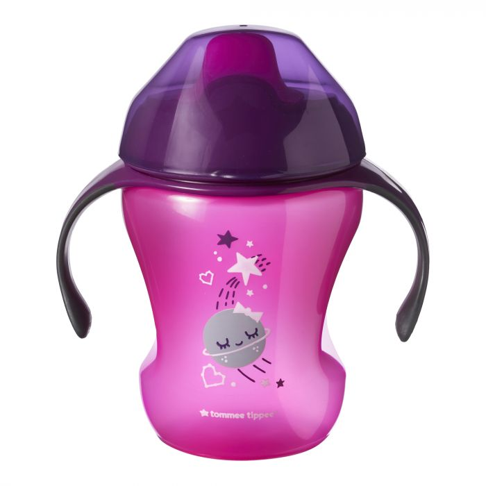 Cana Explora Easy Drink Luna Tommee Tippee, mov, 230 ml, 6 luni+