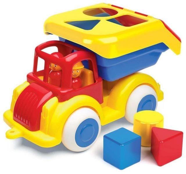 Camion cu forme Jumbo VikingToys, cu 2 figurine, 12 luni+