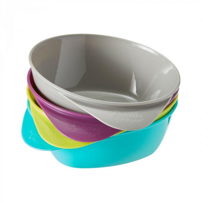 Castroane ergonomice Explora Tommee Tippee, multicolor, 4 buc, 6 luni+