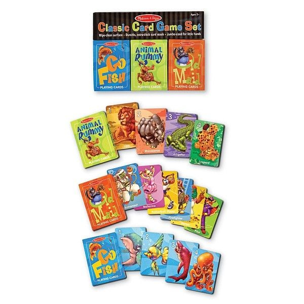 Carti de joc clasice Melissa & Doug, engleza, 3 ani+