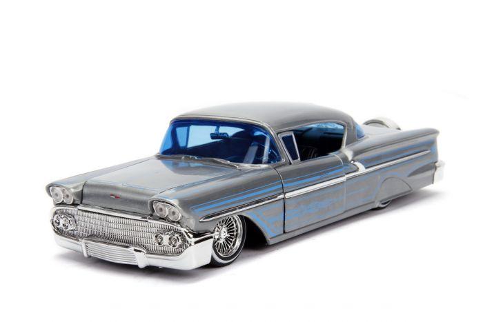 Macheta Chevy Impala Hard Top 1958 Jada Toys, metalica, 1:24, 8 ani+