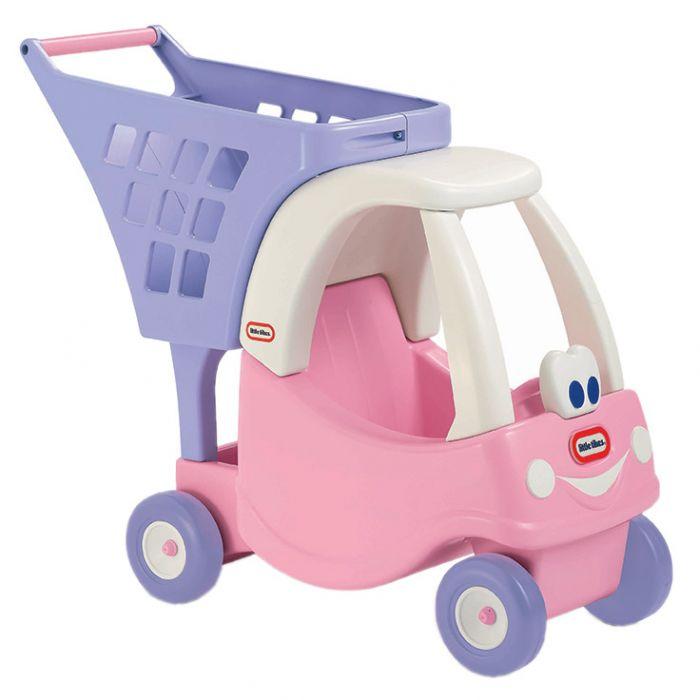 masinuta cos pentru cumparaturi jucarie fetita