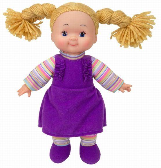 Papusa Soft Cheeky cu corp moale Simba, cu hainute violet, 12 luni+