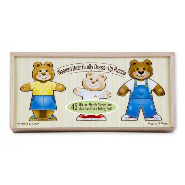 Set de joaca Imbraca familia de ursuleti Melissa & Doug, 3 ani+