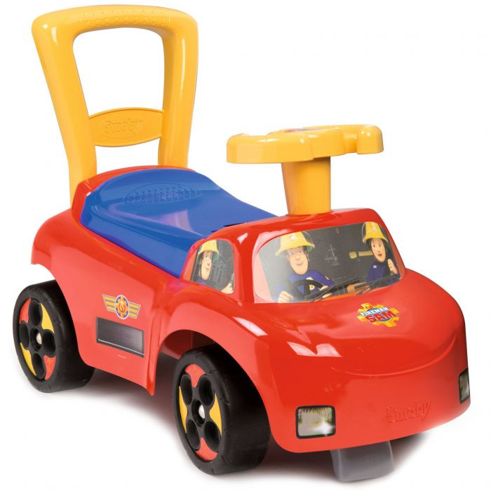 Masinuta ride on initio Fireman Sam, cu spatiu de depozitare, 54 cm 720506 smoby