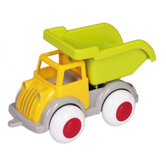 Camion Autobasculanta culori vesele Jumbo VikingToys, cu 2 figurine, 12 luni+