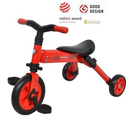 Tricicleta B-Trike DHS Baby, rosu