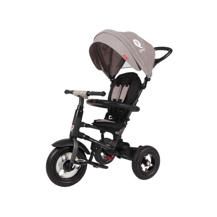 Tricicleta pliabila Rito AIR Qplay, cu roti gonflabile de cauciuc, Gri