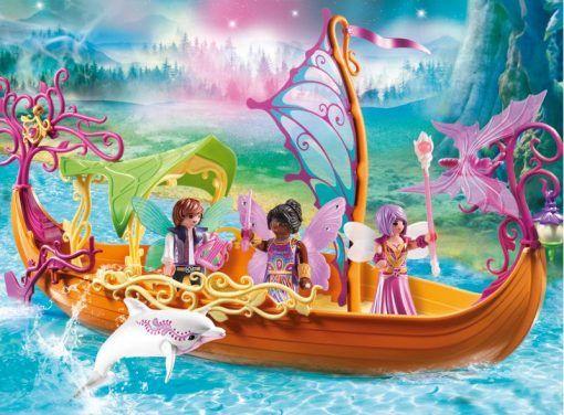 Barca magica cu zane, Playmobil, 4 ani+
