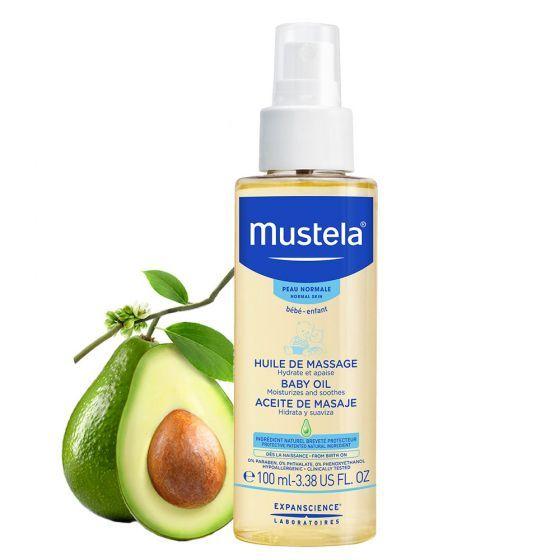 Ulei de masaj Mustela, piele normala, 100 ml