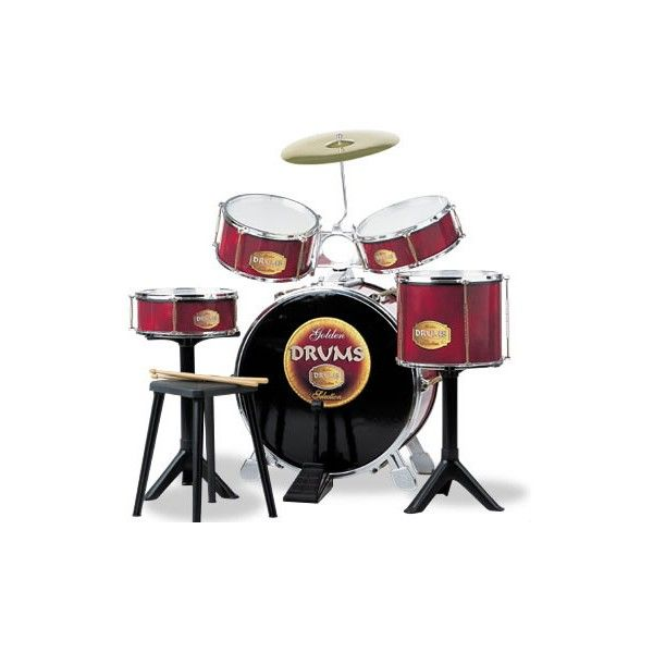 Set tobe si baterie Golden Drums Reig Musicales, 4 ani+
