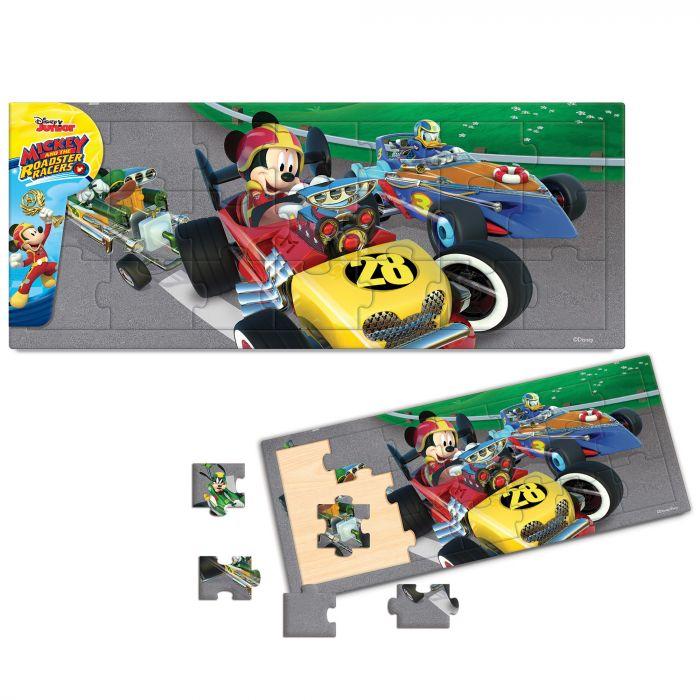 Puzzle Mickey si pilotii de curse 21 piese Mickey Mouse BI1576217