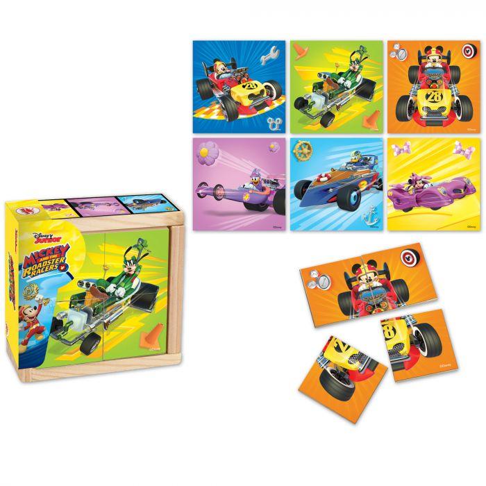 Puzzle Mickey si pilotii de curse 24 piese Mickey Mouse BI1576286