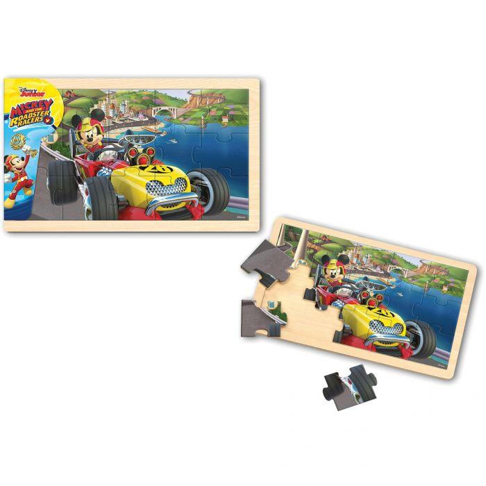 Puzzle Mickey si pilotii de curse 15 piese Mickey Mouse BI1576293