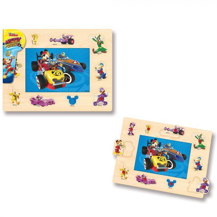 Puzzle tinte Mickey si pilotii de curse 16 piese Mickey Mouse BI1576309