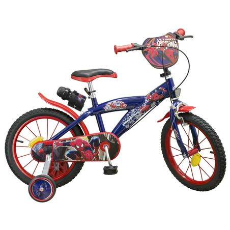 Bicicleta copii 16'' Spiderman Toimsa, 5 ani+