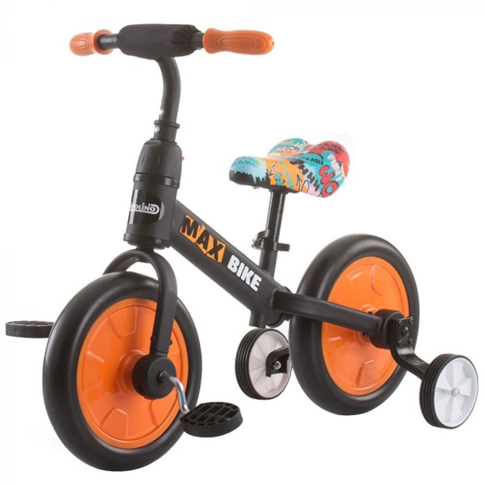 Bicicleta Max Bike orange Chipolino, 3 ani+, Portocaliu